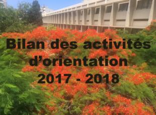 bilan activités orientation 2017-2018