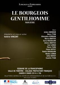 Le Bourgeos Gentilhomme au théâtre du CPF