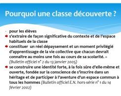 Classe découverte CE2