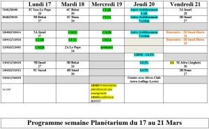 Programme planétarium