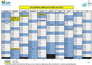 Calendrier scolaire 2014 2015 coll ge protestant fran ais beyrouth liban - Calendrier scolaire 2014 2015 ...