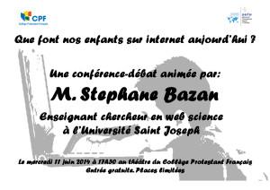 Conférence-débat Stéphane Bazan
