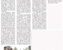 Article paru dans l'Orient-le-Jour Plantation de cèdre Colombey les Deux Eglises