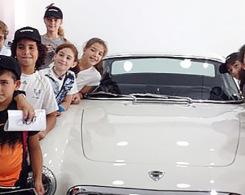 Les CM2 au garage Volvo