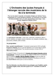 Affiche orchestre lycée