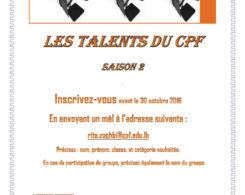 Les Talents du CPF 2