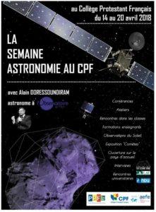 SEMAINE ASTRONOMIE CPF 2018