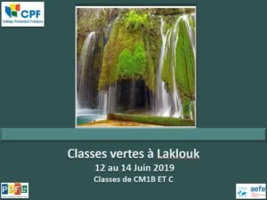 Classes vertes à Laklouk CM1