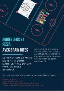 soiree jeux et pizza