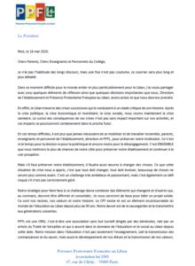 Message De Présence Protestante Française Au Liban